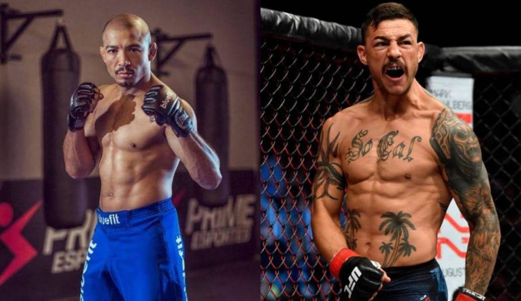 Swanson (dir.) cancela luta com J. Aldo (esq.). Foto: Montagem SL/MMA Press