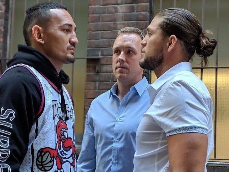 M. Holloway (esq.) e B. Ortega (dir.) se enfrentam na luta principal. Foto: Reprodução/Instagram @briantcity