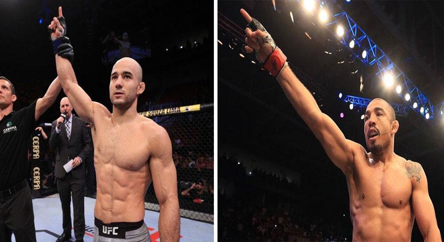 Marlon (esq.) e Aldo (dir.) se enfrentam no UFC 245. Foto: Montagem SL MMA Press