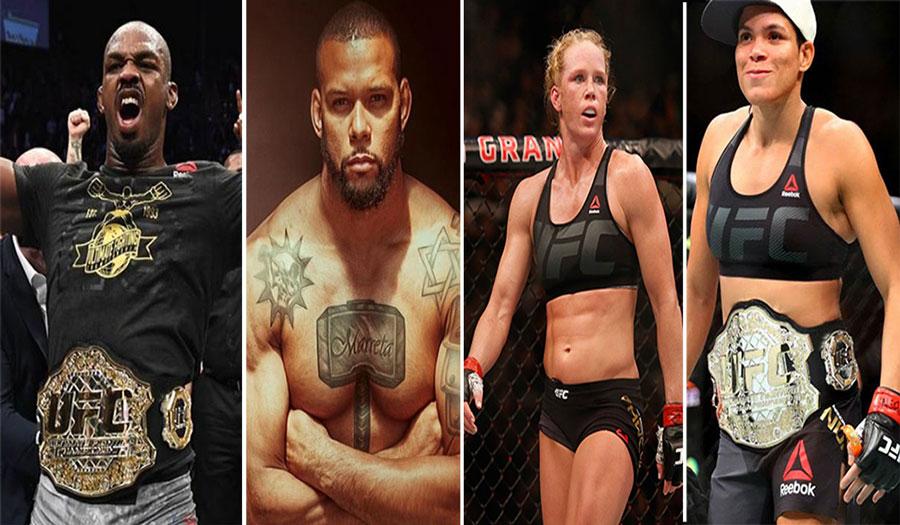 Jones x Marreta e Amanda x Holm serão atrações do UFC 239. Foto: Montagem SL MMA Press