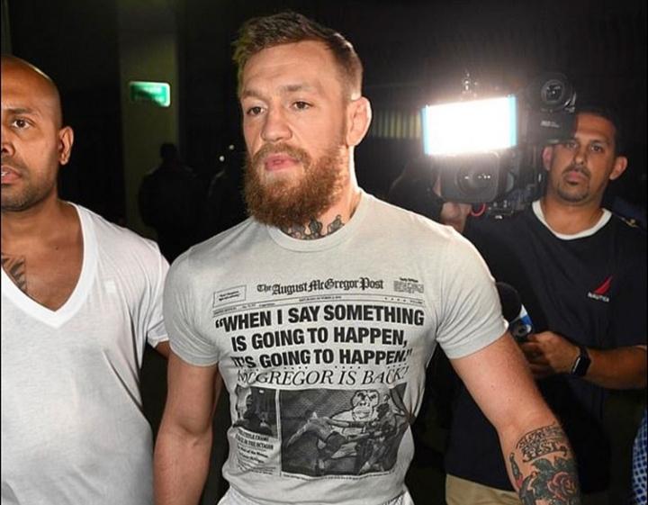 C. McGregor pagou fiança de US$ 12.5 mil. Foto: Reprodução/Instagram @thenotoriousmma