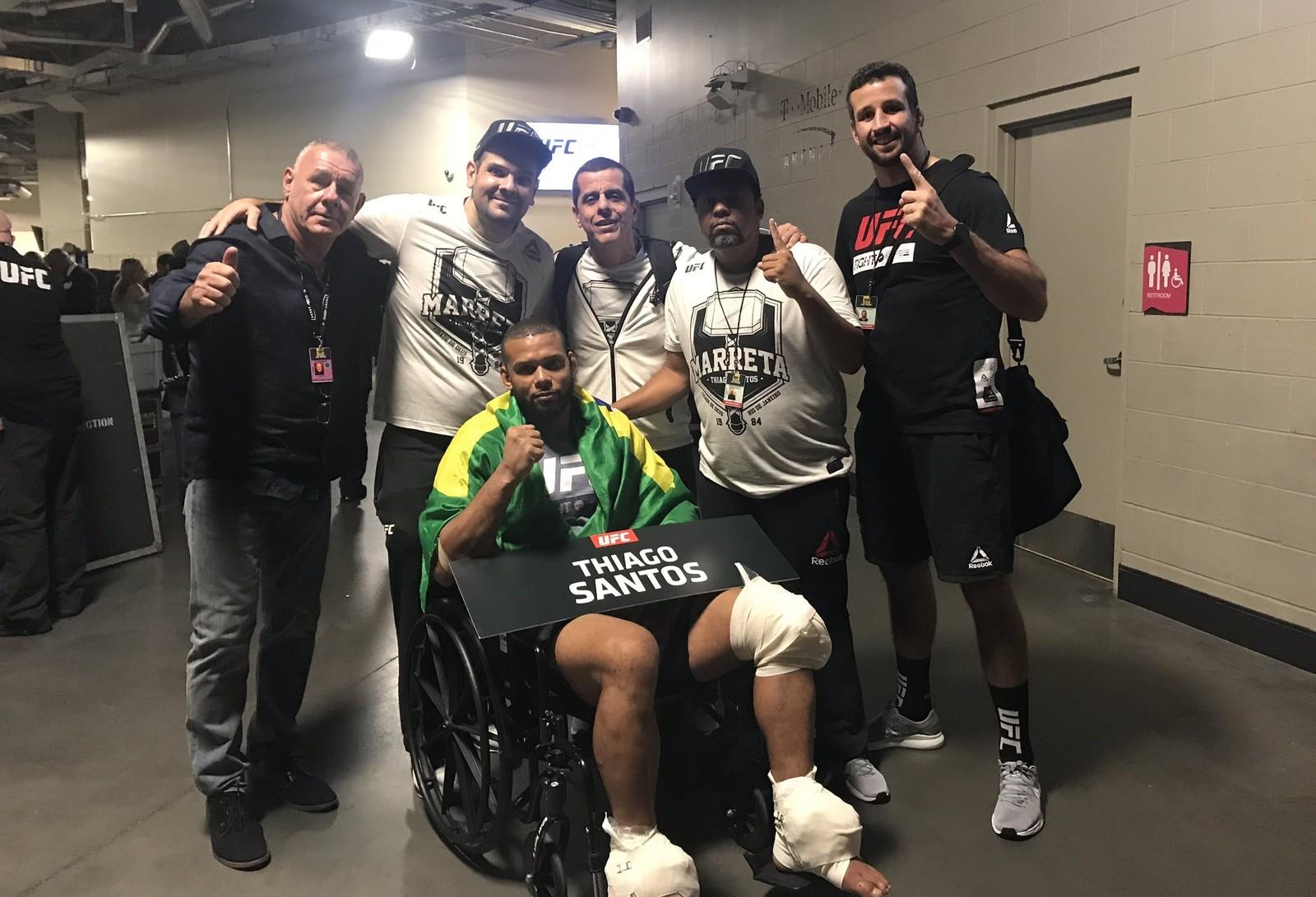 Marreta deixa área de lutas em cadeira de rodas. Foto: Reprodução / Instagram