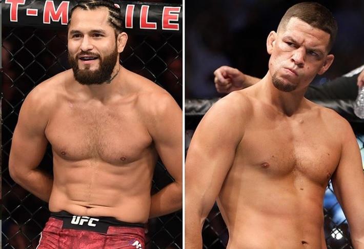 J. Masvidal (esq.) enfrenta N. Diaz (dir.) por título simbólico no UFC 244. Foto: Reprodução/Instagram @ufc